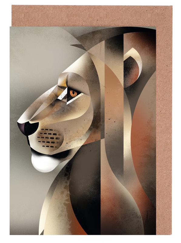 Löwen, Lion -Grußkarten-Set