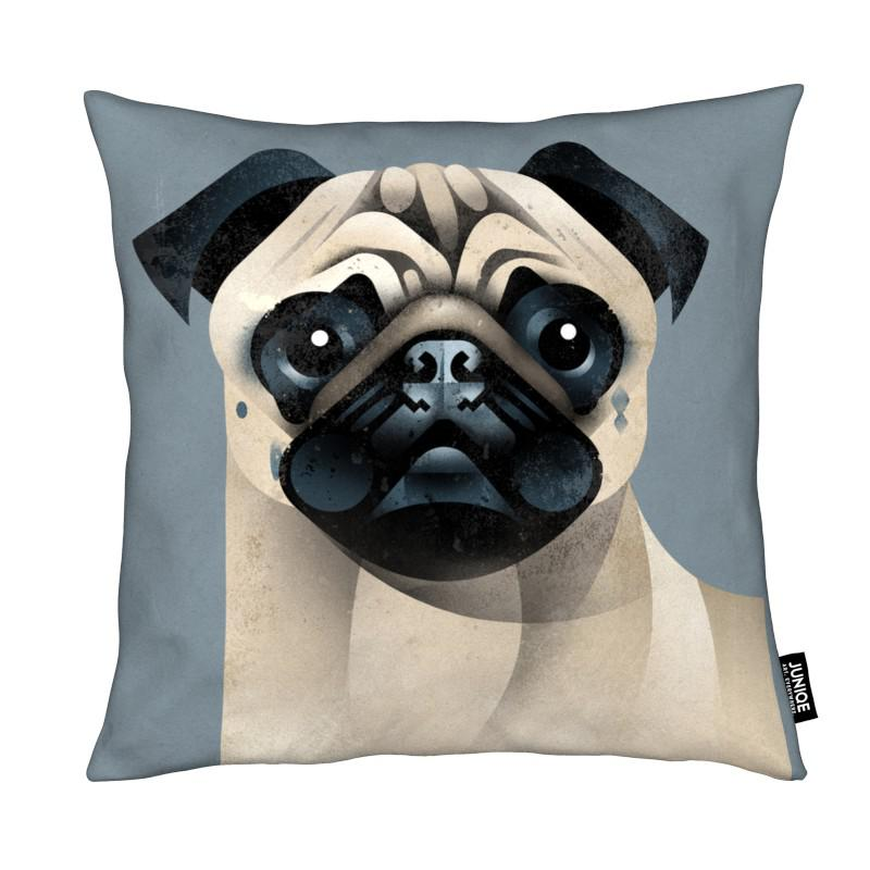 Chiens, Pug coussin