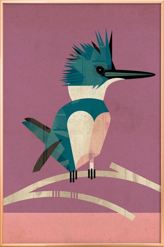 Kingfisher -Poster im Alurahmen