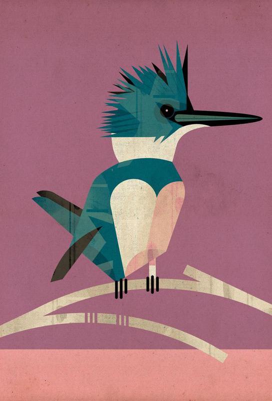 Kingfisher -Acrylglasbild