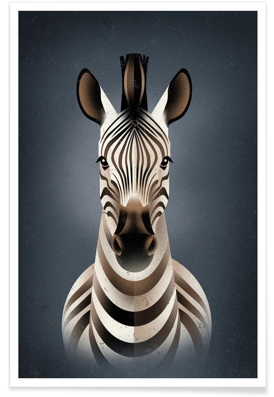 Zebras, Zebra II -Poster