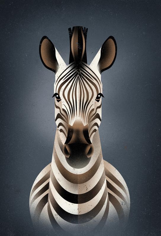 Zebra II -Acrylglasbild