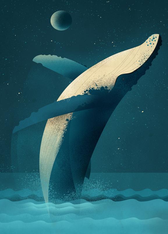 Humpback Whale -Leinwandbild