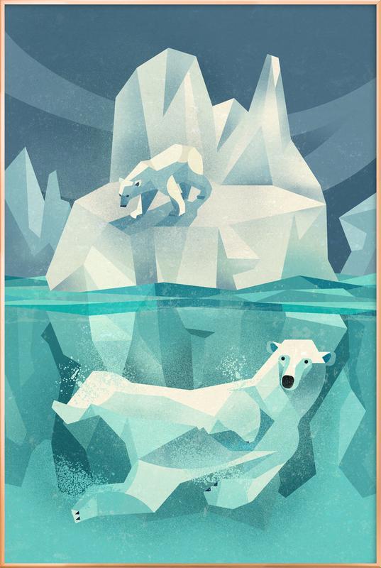 Polar Bear Poster in Aluminium Frame