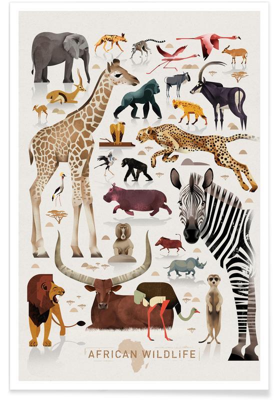 Afrique vintage affiche