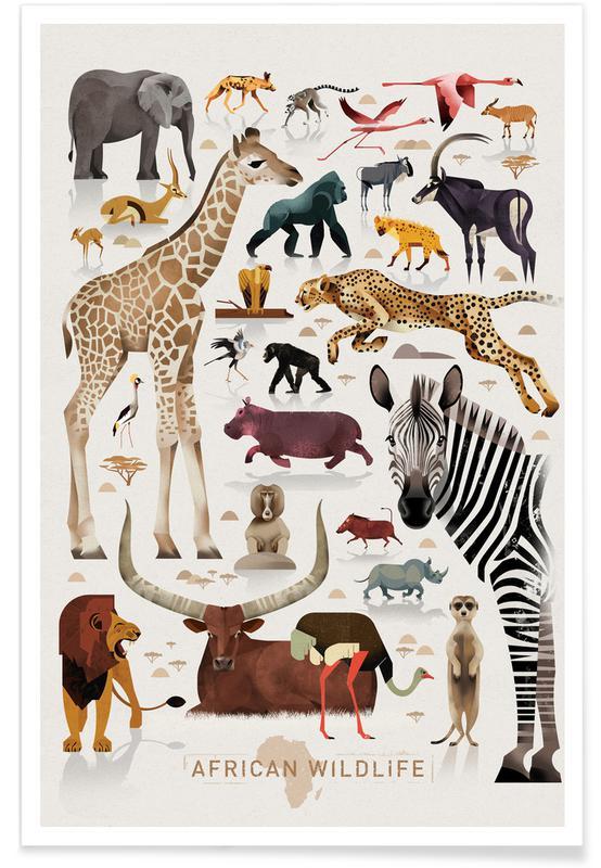 Vintage-Afrika -Poster