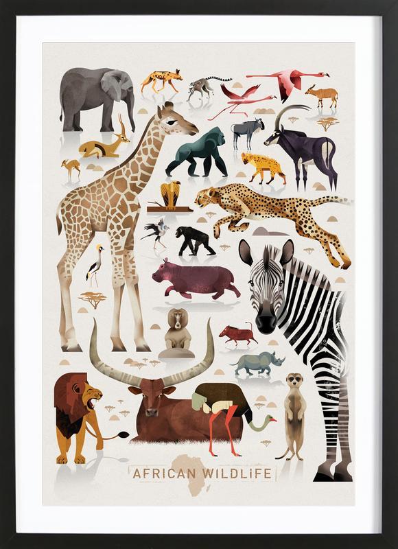 Afrika Plakat i træramme