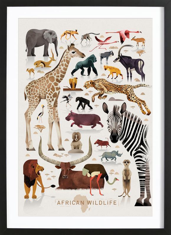 Afrika Poster i träram