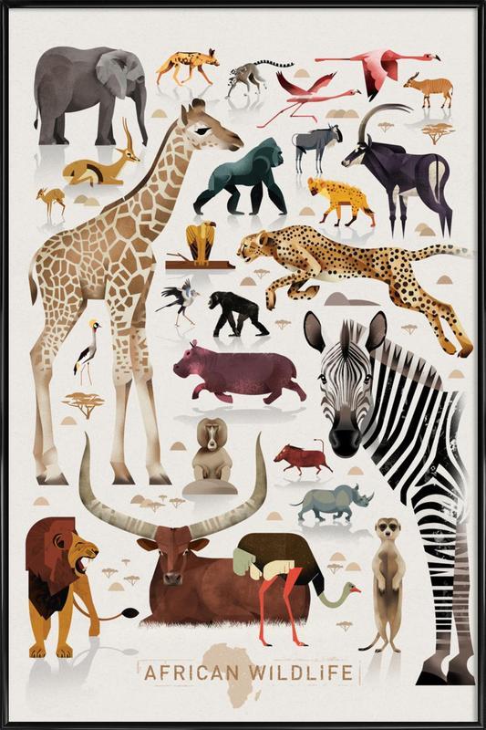 Afrika Poster i standardram