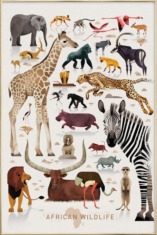 Afrika Poster in Aluminium Frame