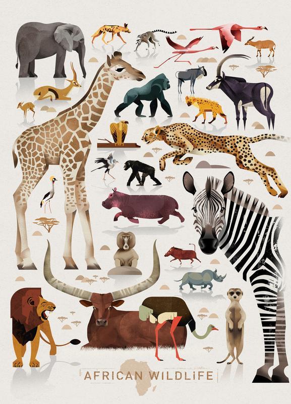 Afrika Canvastavla