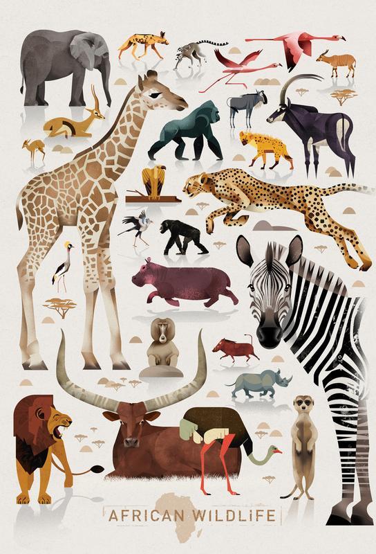 Afrika Akrylglastavla