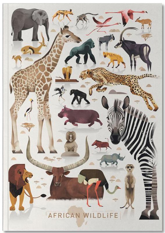 Kunst voor kinderen, Safari dieren, Afrika Notebook