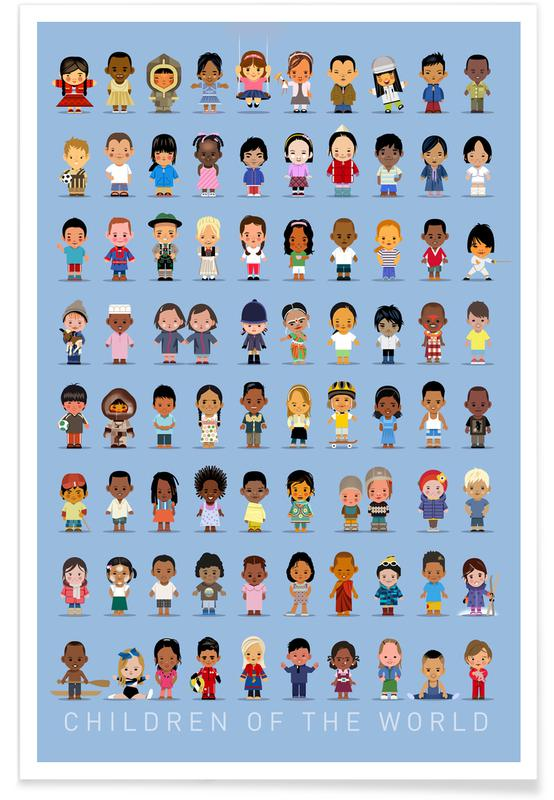 Vintage Children Of the World Poster