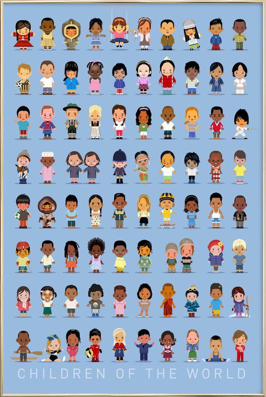 Children Of the World affiche sous cadre en aluminium