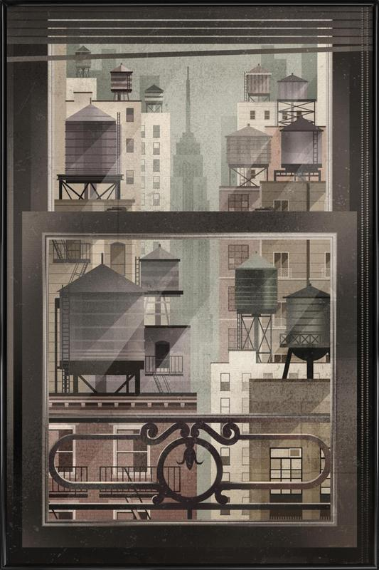 NYC Watertowers Framed Poster