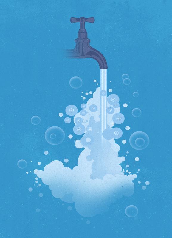 Water for the World -Leinwandbild