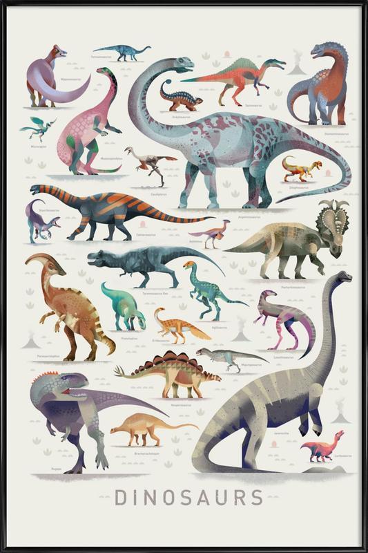 Dinosaurs Framed Poster