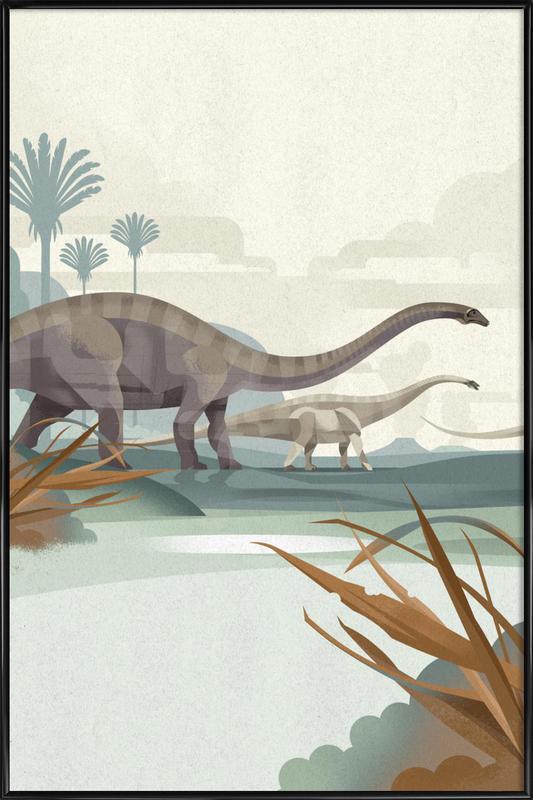 Diplodocus -Bild mit Kunststoffrahmen