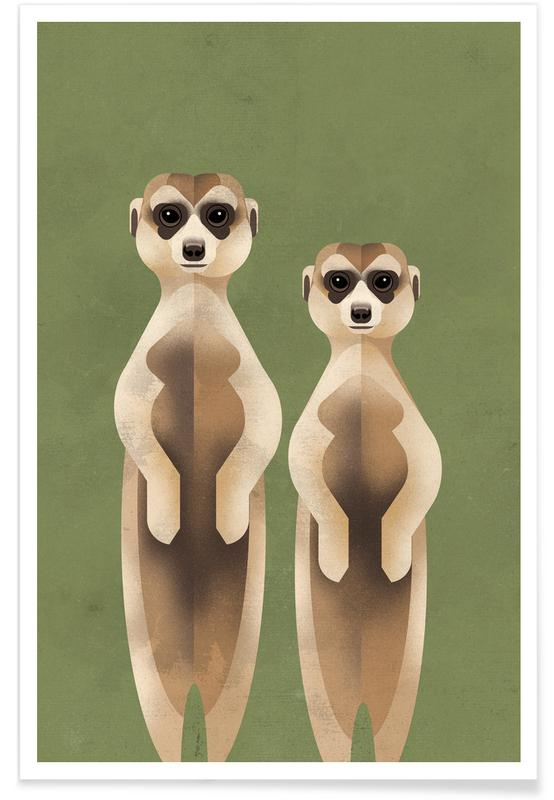Art pour enfants, Meerkats affiche