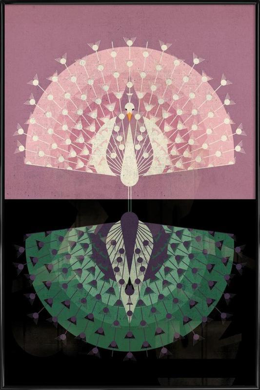 Peacock -Bild mit Kunststoffrahmen
