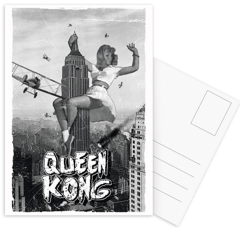 Zwart en wit, Films, Queen Kong 2 ansichtkaartenset