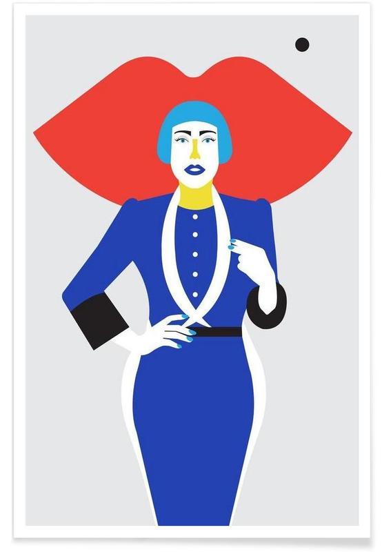Ofelia Blue Lips -Poster