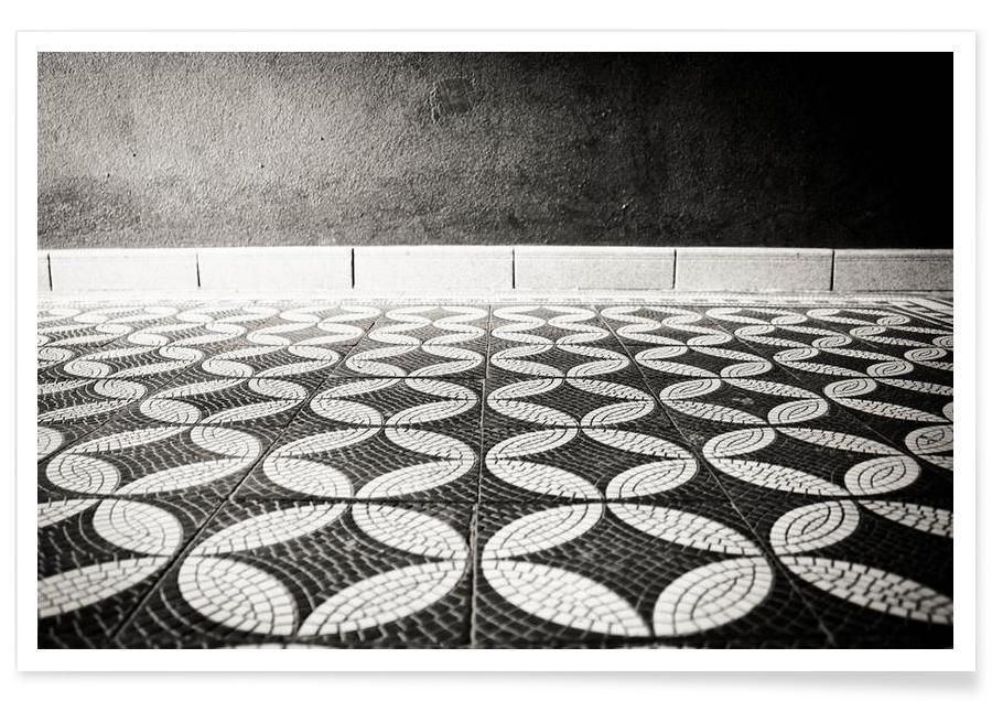 Détails architecturaux, Noir & blanc, On the Floor affiche