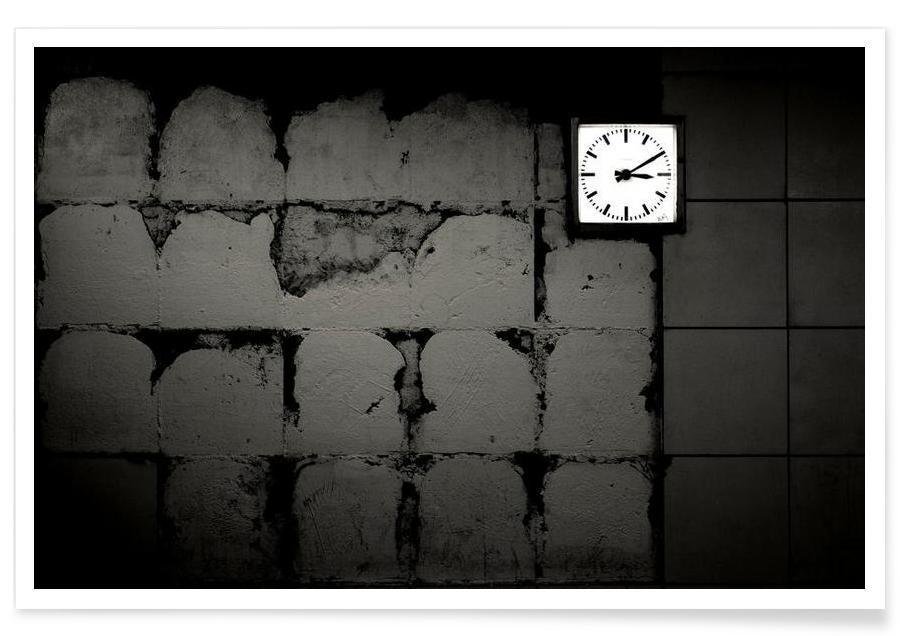 Détails architecturaux, Noir & blanc, Tick Tack affiche