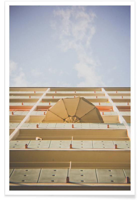 Umbrella Meets Sky -Poster