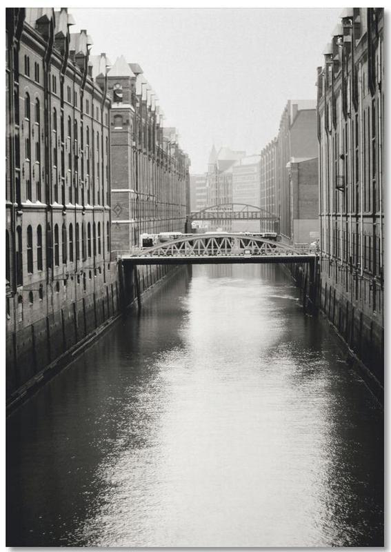 Noir & blanc, Hambourg, Warehouse District Hamburg II Notebook
