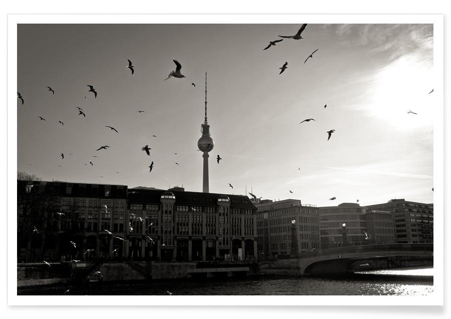 Berlin, Schwarz & Weiß, Fernsehturm -Poster