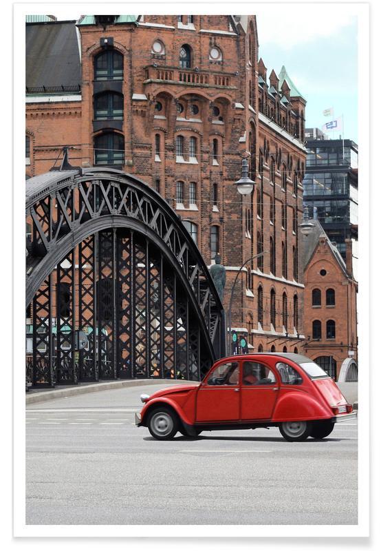 London, Red Oldtimer -Poster