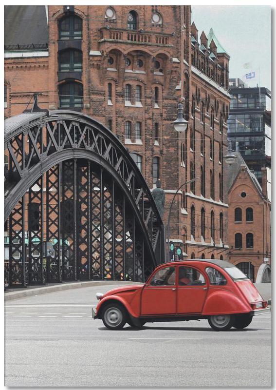 London, Red Oldtimer Notepad