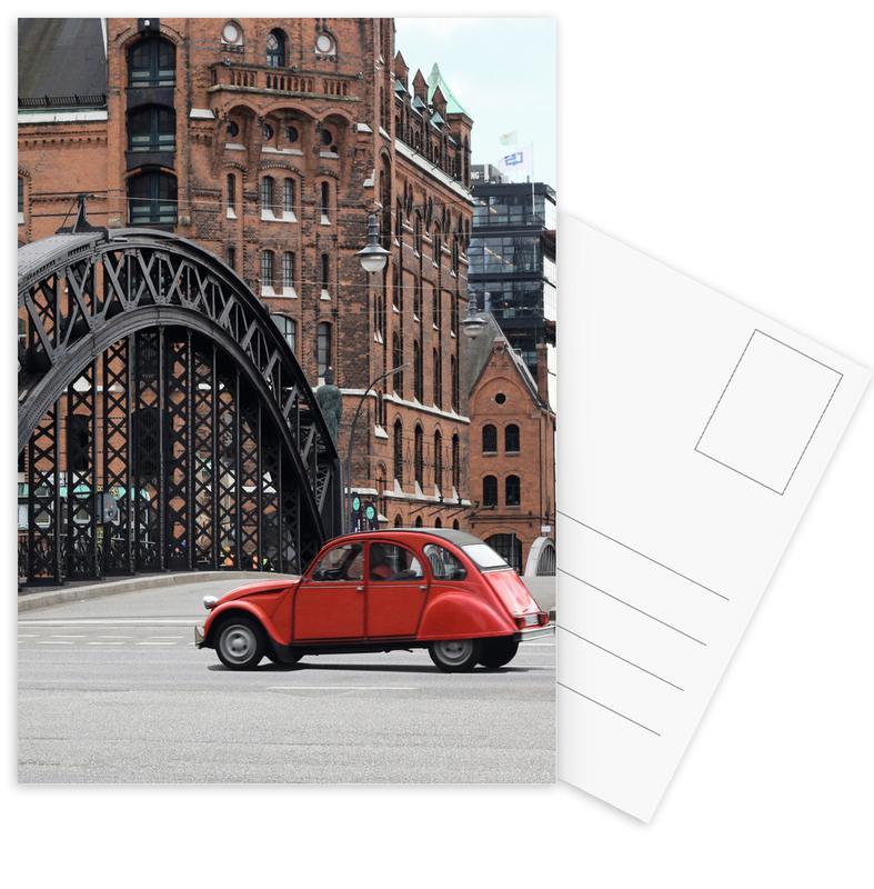 London, Red Oldtimer -Postkartenset