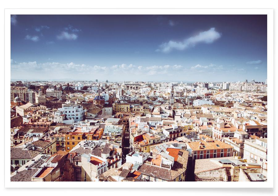 Valencia From Above -Poster