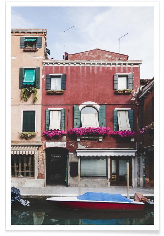 Architekturdetails, Venedig, Murano Boat, Venice -Poster