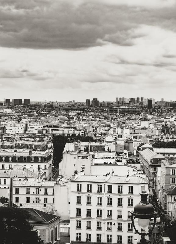 Montmartre Skyline, Paris toile