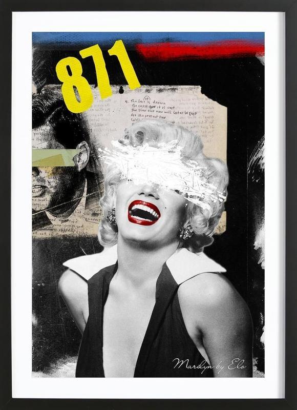 Public Figures: Marilyn Framed Print