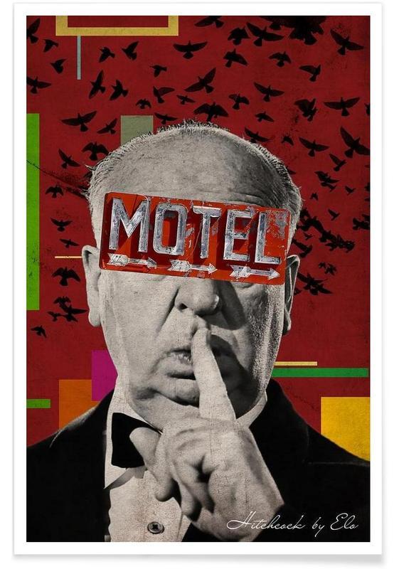 Retro, Public Figures: Hitchcock poster