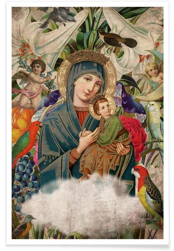 Rétro, Saints: Madonna and Child affiche