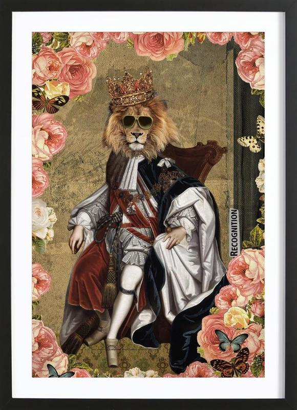 Animals: The King Framed Print