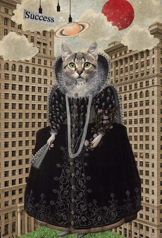 Animals: Lost In The City Aluminium Print