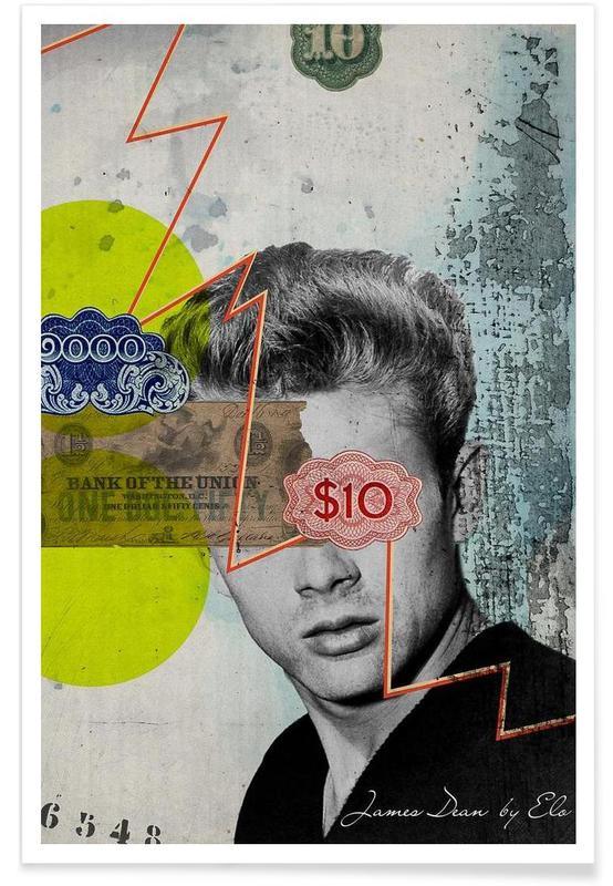 Rétro, James Dean, Public Figures: James Dean affiche