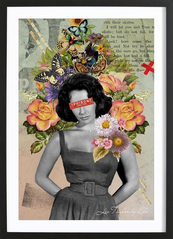 Public Figures: Liz Taylor Framed Print