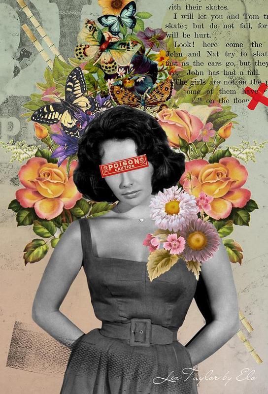 Public Figures: Liz Taylor -Acrylglasbild