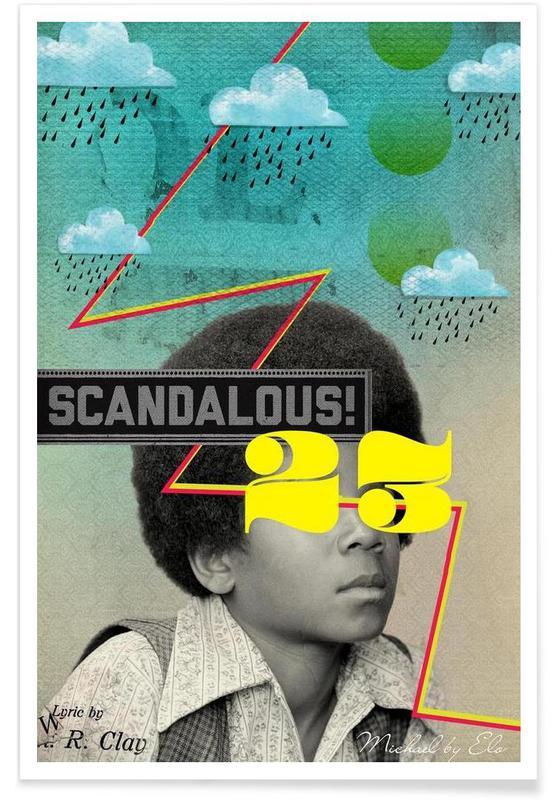 Michael Jackson, Retro, Public Figures:  Michael -Poster