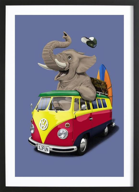 Pack the trunk (colored) Framed Print