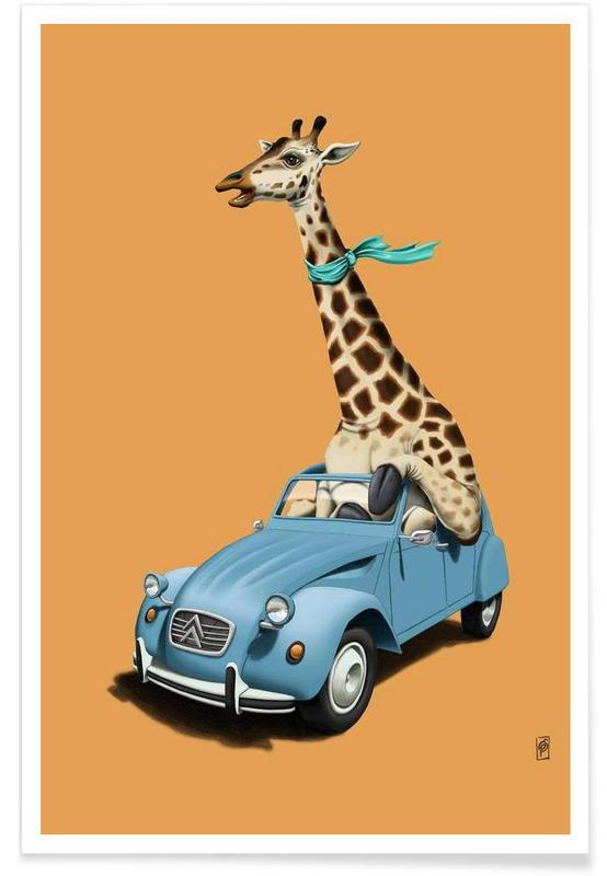 Riding high (colored) affiche