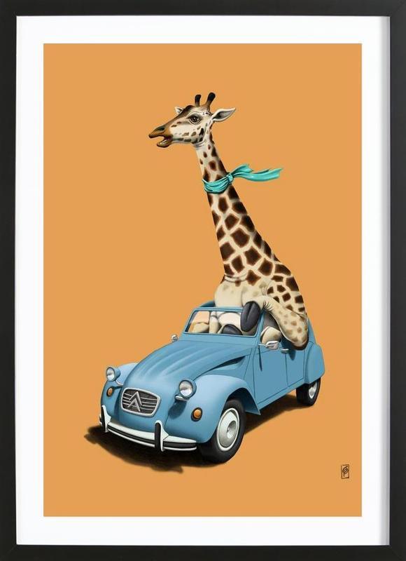 Riding high (colored) affiche sous cadre en bois